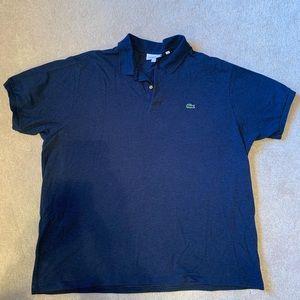 Lacoste Heathered Blue Golf Shirt